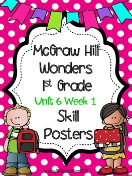 Wonders 1st Grade Unit 6 Week 1 Posters