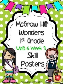 Wonders 1st Grade Unit 6 Week 3 Posters