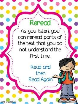 Wonders 1st Grade Unit 6 Week 5 Posters