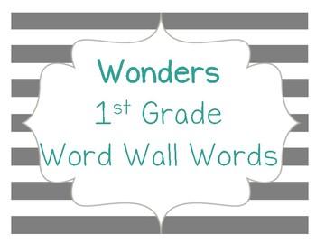 Wonders 1st Grade Word Wall