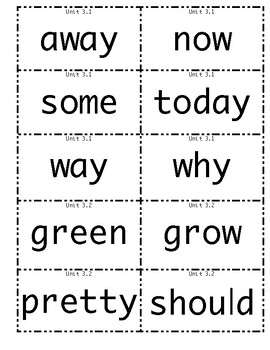 1st grade Wonders High Frequency Words Unit 3