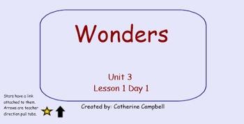 Wonders 1st grade Unit 3 Week 1