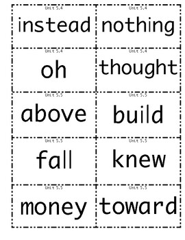 1st grade Wonders High Frequency Words Unit 5