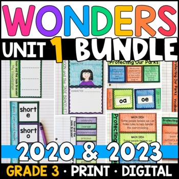 Wonders 2020 3rd Grade Unit 1 BUNDLE: Aligned Interactive Pages and Supplements
