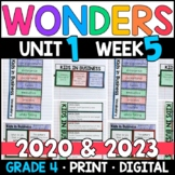 Wonders 2020 4th Grade, Unit 1 Week 5: Kids in Business with GOOGLE Classroom