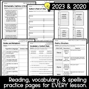 Wonders 2020 5th Grade HALF-YEAR BUNDLE: Units 4-6 (Aligned Supplements)