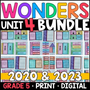 Wonders 2020 5th Grade Unit 4 BUNDLE: Interactive Notebook Pages and Supplements