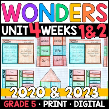Wonders 2020 5th Grade, Unit 4 Weeks 1 and 2: Rosa Interactive Supplements