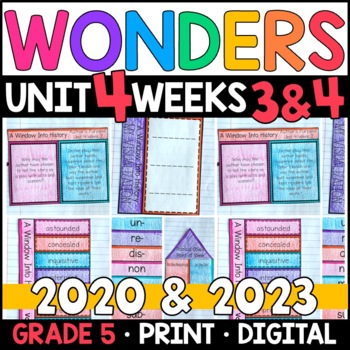 Wonders 2020 5th Grade, Unit 4 Weeks 3 and 4: A Window Into History Supplements