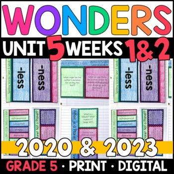 Wonders 2020 5th Grade, Unit 5 Weeks 1 and 2: When Is Planet Not a Planet? Pages