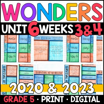 Wonders 2020 5th Grade, Unit 6 Weeks 3 and 4: Survival at 40 Below Supplements