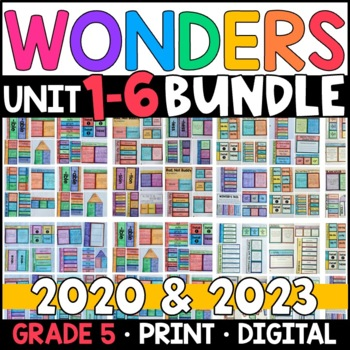 Wonders 2020 5th Grade WHOLE-YEAR BUNDLE Units 1-6 (Aligned Supplements)