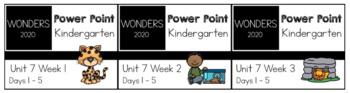 Wonders 2020. BUNDLE Unit 3 Weeks 1-3. Power Point. Kindergarten.