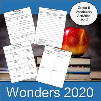 Wonders 2020 Vocabulary Activities Fifth Grade Unit 2