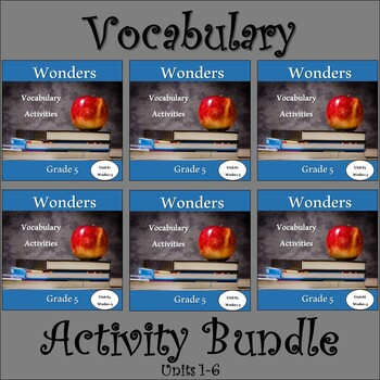 Wonders 2020 Fifth Grade Vocabulary Bundle