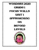 Wonders 2020 Grade 1 Unit 1 Focus Walls