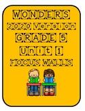 Wonders 2020 Grade 5 Unit 1 Focus Wall Sheets