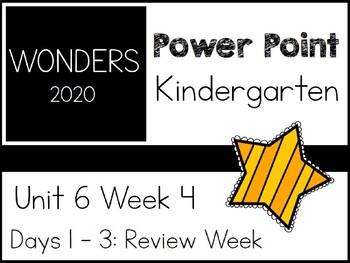 Wonders 2020. Kindergarten. Power Point. Unit 6 Week 4.