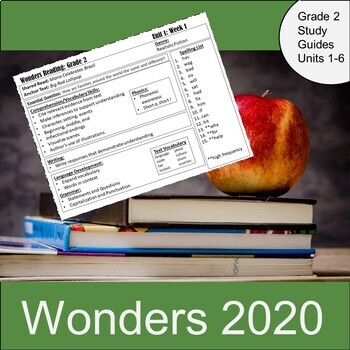 Wonders 2020 Second Grade Study Guides/Weekly News
