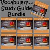 Wonders 2020 Third Grade Study Guide/Vocabulary Bundle Units 1-6