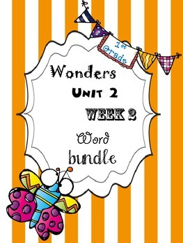 Wonders 2.2 Word Bundle