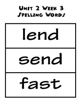 Wonders 2.3 Word Bundle