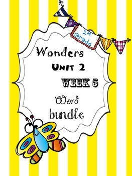 Wonders 2.5 Word Bundle