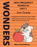 Wonders 2nd Grade High Frequency Words Unit 3