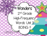 Wonders 2nd Grade High-Frequency Words Unit 3 Games {BOING