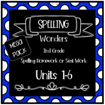 Wonders 2nd Grade Homework or Seat Work Units 1-6 MEGA PACK- Entire Year!
