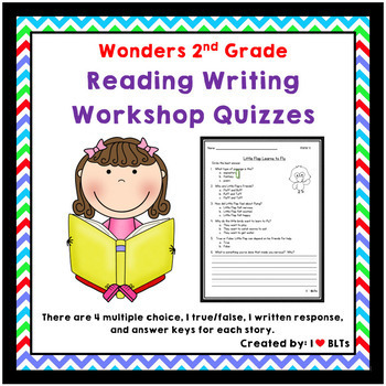 2nd Grade Reading Writing Workshop Quizzes to support Wonders