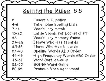 Wonders 2nd Grade Setting the Rules 5.5 {8 Literacy Activities}