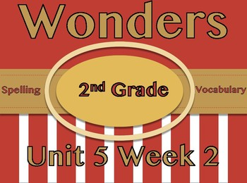 Wonders 2nd Grade Spelling, Vocabulary, Roll &  Read Activities