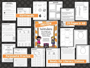 Wonders 2nd Grade Start Smart Reading Activities