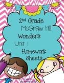 Wonders 2nd Grade Unit 1 Homework Sheets