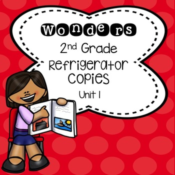 Wonders 2nd Grade Unit 1 Refrigerator Copy