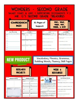 Wonders 2nd Grade Smart Start & Unit 1 Supporting Documents