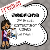 Wonders 2nd Grade Unit 1 Week 1 Refrigerator Copy Freebie