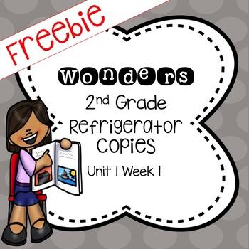 Wonders 2nd Grade Unit 1 Week 1 Refrigerator Copy Freebie