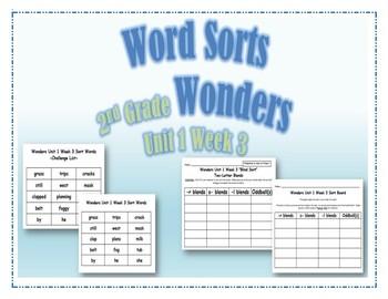 Wonders 2nd Grade Unit 1 Week 3 Spelling Word Sort