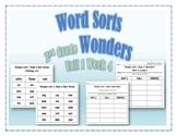 Wonders 2nd Grade Unit 1 Week 4 Spelling Word Sort