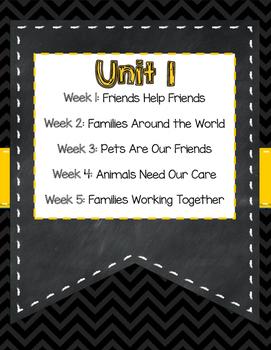 Wonders 2nd Grade Unit 1 Weeks 1-5 Outline