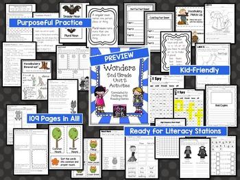 Wonders 2nd Grade Unit 2 Activities, Weeks 1-5