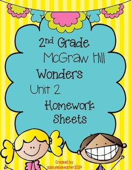 Wonders 2nd Grade Unit 2 Homework Sheets