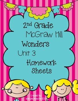 Wonders 2nd Grade Unit 3 Homework Sheets