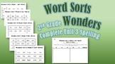 Wonders 2nd Grade Unit 3 Spelling Word Sort Bundle