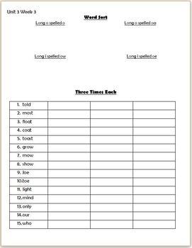 Wonders 2nd Grade Unit 3 Weeks 1-5 PACK Homework or Seat Work