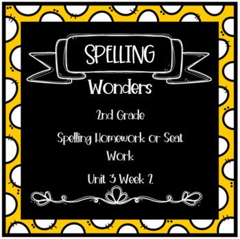 Wonders 2nd Grade Unit 3 Week 2 Homework or Seat Work