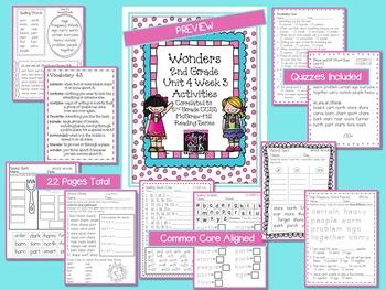 Wonders 2nd Grade Unit 4 Activities Week 3