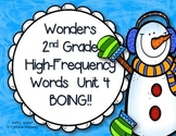 Wonders 2nd Grade Unit 4 High-Frequency Words BOING !